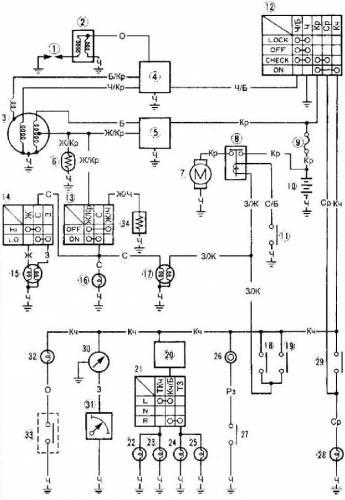 Электрическая схема скутера Ямаха Jog.  Yamaha ,каталог схем для ремонта и обслуживания данной техники.